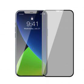2 Db Üvegfólia Csomag iPhone 12 Pro Max, Privacy Glass, Füstös arnyalat, 6,7″ méretű készülékekhez