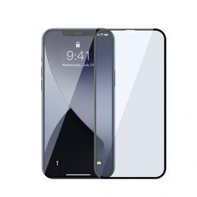 2 Db Üvegfólia Csomag Iphone 12/12 Pro, Baseus, Fekete szegélyekhez, Kék fényszűrőhöz