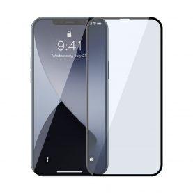 2 Db Üvegfólia Csomag iPhone 12 Pro Max, Baseus, Fekete szélekhez, Kék fényszűrő