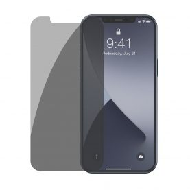 2 Db Üvegfólia Csomag iPhone 12/12 Pro Készülékhez, Füstös árnyalat, Privacy Glass, 6,1″