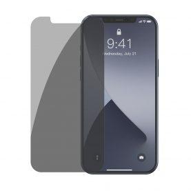 2 Db Üvegfólia Csomag iPhone 12 Pro Max, Füstös árnyalat, Privacy Glass, 6,7″ méretű készülékekhez