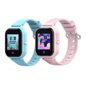 Promóciós csomag 2Db. Okosóra gyerekeknek Wonlex KT24, Nano SIM, 4G, Lépésszámláló, GPS helymeghatározás, Kamera, Névjegyek, SOS hívás, Rózsaszín Rózsaszín-Kék