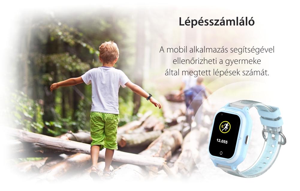 Okosóra gyerekeknek Wonlex KT23, Nano SIM, 4G, Lépésszámláló, GPS helymeghatározás, Mikrofon, Monitorozás és SOS, Hang és szöveges üzenetek, Rózsaszín
