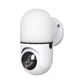 Bébiőr Little Wall Light Q100, 360 ° Figyelés, Alkalmazáson belüli figyelés, Kétirányú kommunikáció, Éjszakai fény, Éjszakai nézet, Fehér