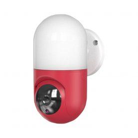 Bébiőr Little Wall Light Q100, 360 ° Figyelés, Alkalmazáson belüli figyelés, Kétirányú kommunikáció, Éjszakai fény, Éjszakai nézet, Piros