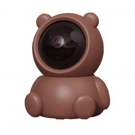 Bébiőr Bear AB88, Mozgásérzékelés, 360 ° figyelés, Éjszakai nézet, Kétirányú kommunikáció, MicroSD foglalat, Barna