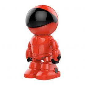 Bébiőr Little Red Man A160-R, Éjszakai nézet, Kétirányú kommunikáció, 360 ° -os figyelés, Wi-Fi kapcsolat, MicroSD foglalat