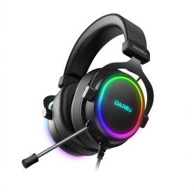 Gamer Fejhallgató Dareu EH925, Mikrofon, RGB világítás, USB csatlakozás, 1,8 m kábel