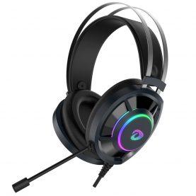 Gamer Fejhallgató Dareu EH469, Mikrofon, RGB fény, 2,5 m kábel, USB csatlakozás