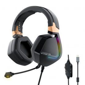 Gamer Fejhallgató BlitzWolf BW-GH2, USB csatlakozás, 7.1 Hang, RGB LED Világítás, 50 mm diver