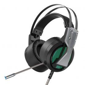 Gamer Fejhallgató BlitzWolf BW-GH1, Mikrofon, 360 PA, 2,2 m kábel, RGB világítás