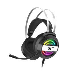 Gamer Fejhallgató Havit H2026D, Mikrofon, RGB világítás, 3,5 + USB csatlakozó, 2m kábelhossz
