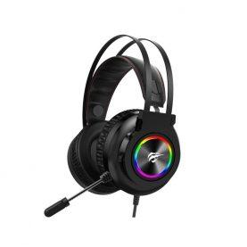 Gamer Fejhallgató Havit H654U, USB csatlakozás, Mikrofon, RGB LED világítás, 2,2 m kábel