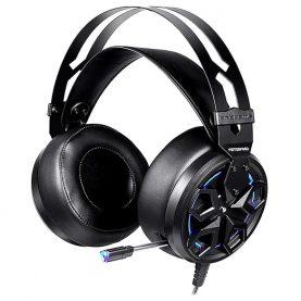 Gamer Fejhallgató Motospeed H60, 7.1 Hang, Mikrofon, 3D Hang, 2,1 m kábel, USB, Piros Led
