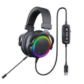 Gamer Fejhallgató Dareu EH925 Pro, Mikrofon, ENC funkció, RGB világítás, USB csatlakozás, 2,2 m kábel