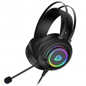 Gamer Fejhallgató Dareu EH416S, Mikrofon, RGB világítás, 3.5mm TRRS és USB csatlakozás