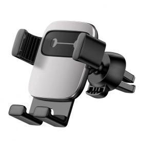 Baseus Cube Autós mobil telefon tartó, Szellőzőrácsra, Ezüst