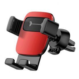 Baseus Cube Autós mobil telefon tartó, Szellőzőrácsra, Piros