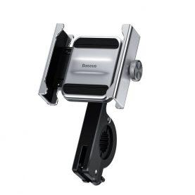 Baseus Knigh Kerékpár / Motorkerékpár telefontartó , Szürke, Ezüst, Alumínium
