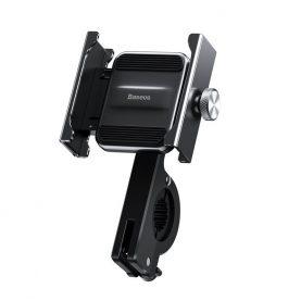 Baseus Knigh Kerékpár / Motorkerékpár telefontartó , Szürke, Fekete, Alumínium