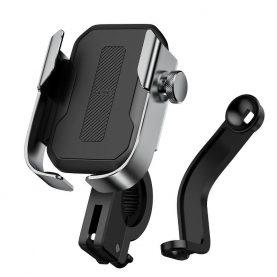 Baseus SUKJA-0S Kerékpár / Motorkerékpár telefontartó , Szürke, Alumínium